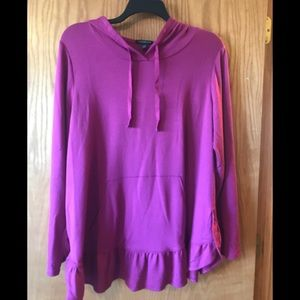 Lane Bryant plus size hooded top